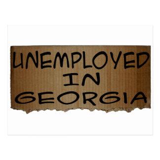UNEMPLOYED IN GEORGIA POSTCARD