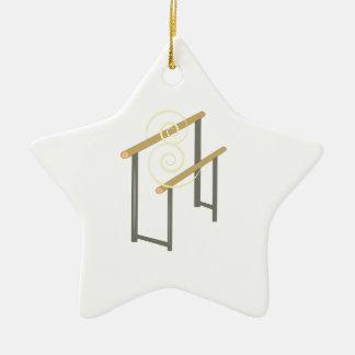 Uneven Bars Ceramic Star Ornament