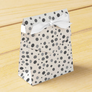 Uneven,colorful, fun , cool polka dots favor box