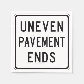 Uneven Pavement Ends Paper Napkins