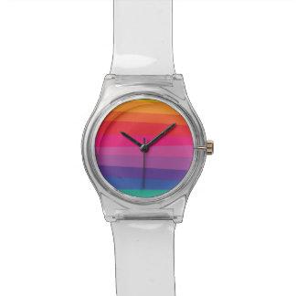 Uneven Rainbow Pattern Watch