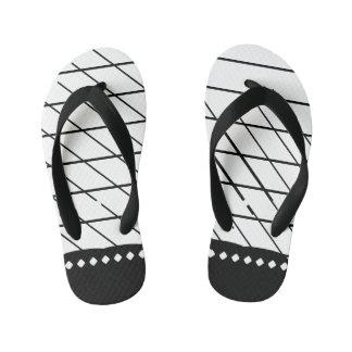 Uneven X Line Kid's Flip Flops