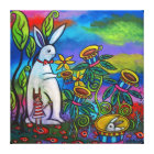 Unexpected Tea Time Gallery Wrapped Canvas Print