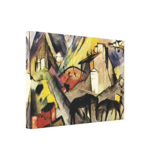 Unfortunte Land Tyrol by Franz Marc Canvas Print