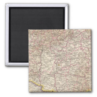 Ungarn, Hungary Atlas Map Square Magnet