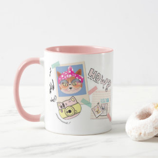 Unglued mug, cat cool! mug