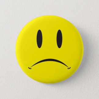 Unhappy Face 2 Inch Round Button