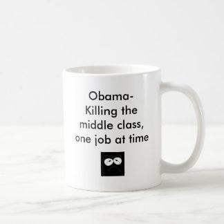 unhappy face, Obama- Killing the middle class, ... Classic White Coffee Mug
