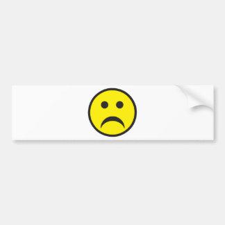 Unhappy Smiley Sadness Face Bumper Sticker