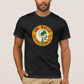 Uni Watch: Gold Magnifying Glass T-Shirt