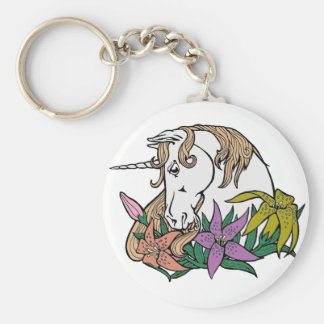 Unicorn 1 basic round button keychain