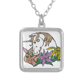 Unicorn 1 silver plated necklace