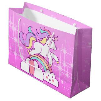 Unicorn 1st Birthday Large Gift Bag