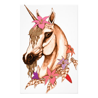 Unicorn 3 customized stationery
