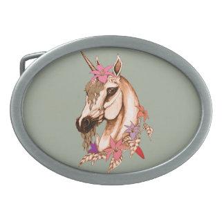 Unicorn 3 oval belt buckle