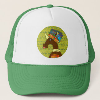 Unicorn African Queen Trucker Hat