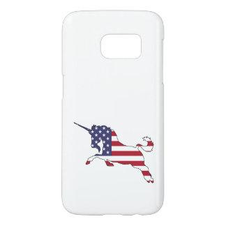 "Unicorn ""American Flag"" Samsung Galaxy S7 Case"