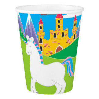 Unicorn and Castle Birthday Party Paper Cups Paper Cup