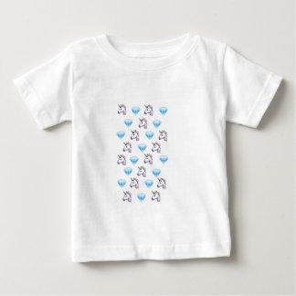 Unicorn and Diamond Emoji Baby T-Shirt