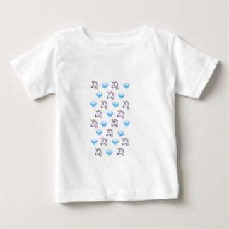 Unicorn and Diamond Emojis Baby T-Shirt