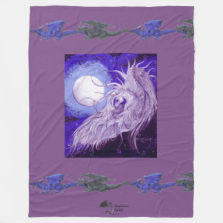 Unicorn and Dragon Moon Blanket