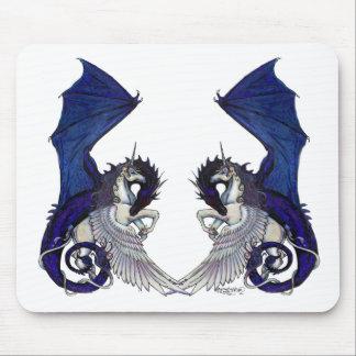 Unicorn and Dragon Wedding Lovers Mouse Pad