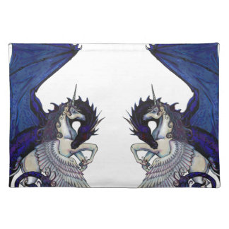 Unicorn and Dragon Wedding Lovers Placemat