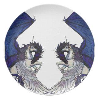 Unicorn and Dragon Wedding Lovers Plate