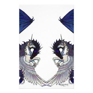 Unicorn and Dragon Wedding Lovers Stationery