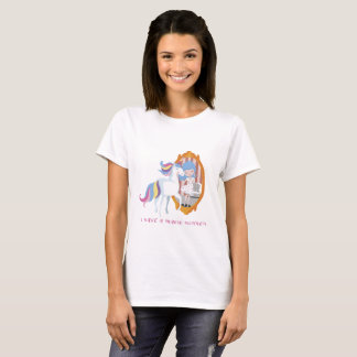Unicorn and Girl, Mirror Beauty Transformation T T-Shirt