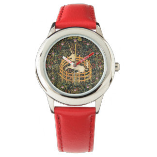 UNICORN AND GOTHIC FANTASY FLOWERS,FLORAL MOTIFS WATCH