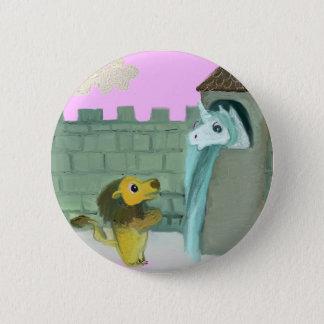 Unicorn and Lion 2 Inch Round Button