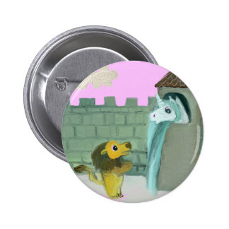 Unicorn and Lion 2 Inch Round Button