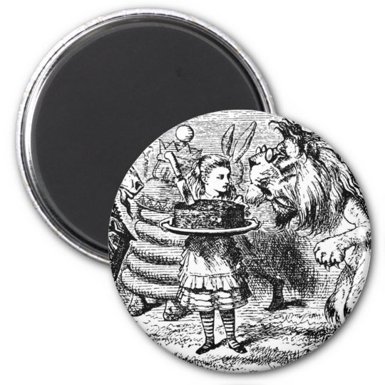 Unicorn and Lion 2 Inch Round Magnet