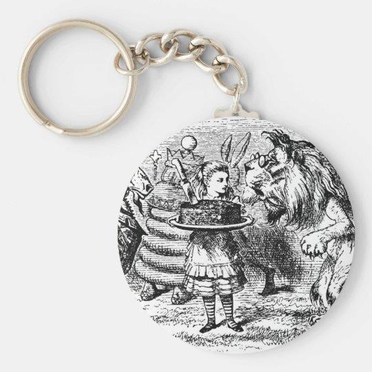 Unicorn and Lion Basic Round Button Keychain
