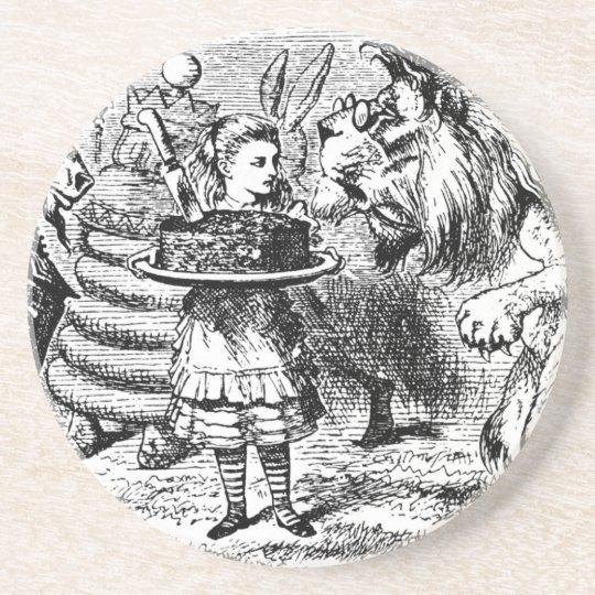 Unicorn and Lion Beverage Coaster