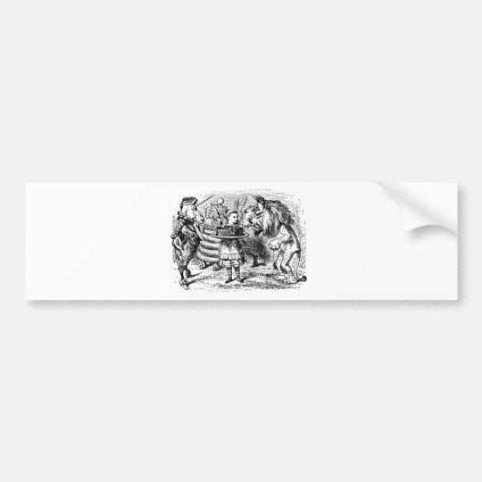 Unicorn and Lion Bumper Sticker