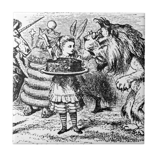 Unicorn and Lion Ceramic Tile