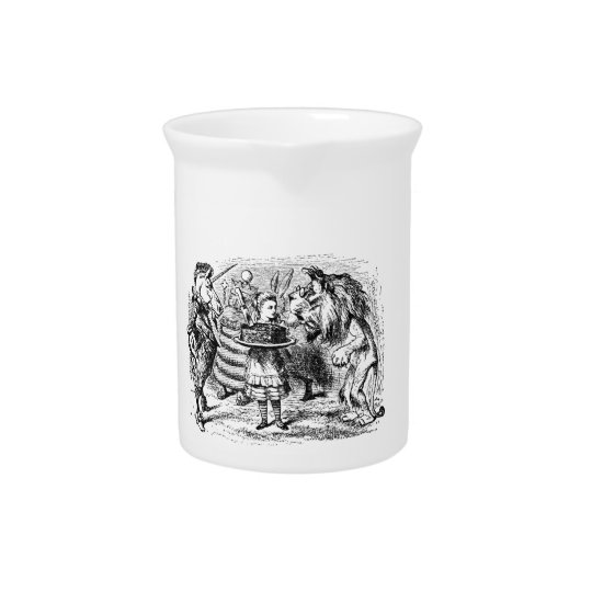 Unicorn and Lion Drink Pitcher
