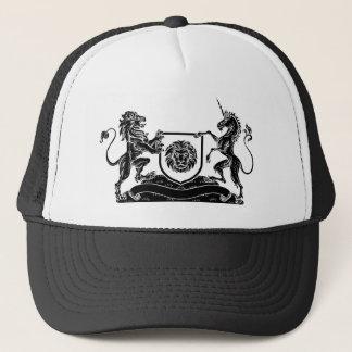 Unicorn and Lion Heraldic Coat of Arms Crest Trucker Hat