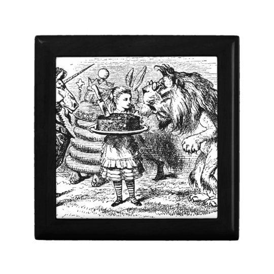 Unicorn and Lion Keepsake Box