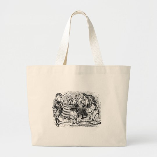 Unicorn and Lion Large Tote Bag