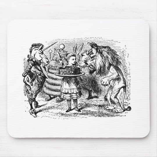 Unicorn and Lion Mouse Pad