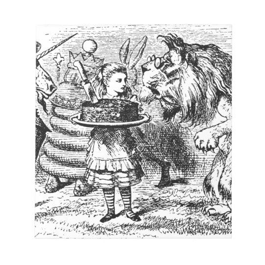 Unicorn and Lion Notepad