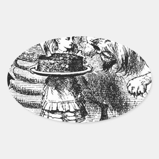 Unicorn and Lion Oval Sticker