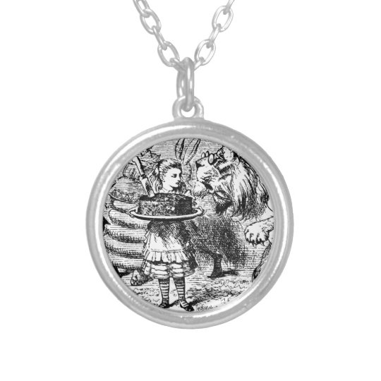 Unicorn and Lion Silver Plated Necklace