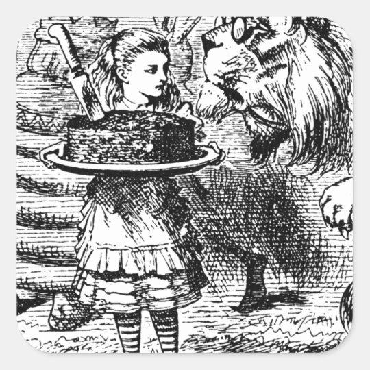 Unicorn and Lion Square Sticker