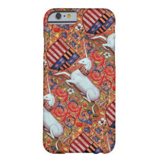 UNICORN AND MEDIEVAL FANTASY FLOWERS,FLORAL MOTIFS BARELY THERE iPhone 6 CASE