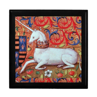UNICORN AND MEDIEVAL FANTASY FLOWERS,FLORAL MOTIFS GIFT BOXES