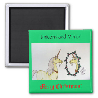 Unicorn and Mirror Magnet